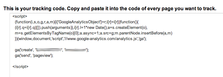 google tracking code